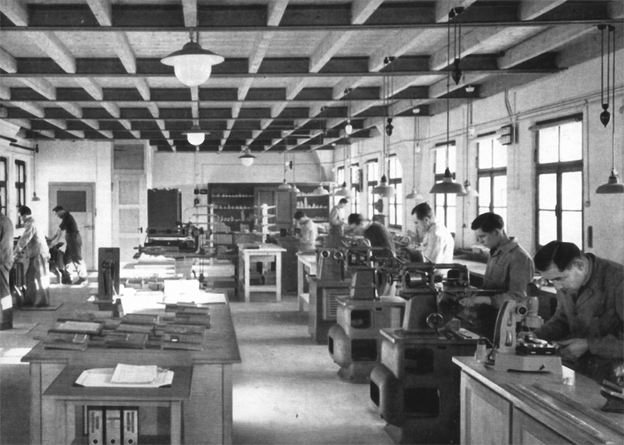a tour through the haas type foundry in 1950