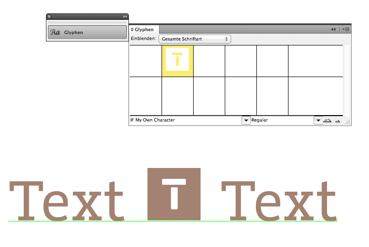 how to put in font from indesign