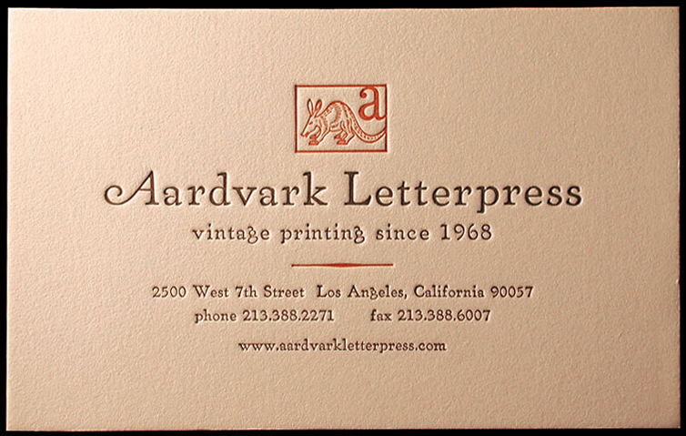 Aardvark letterpress artisanal workshops studios typographyru aardvark letterpress maintains extremely high standards and works meticulously to ensure that every letterpress piece created is a true work of art reheart Gallery