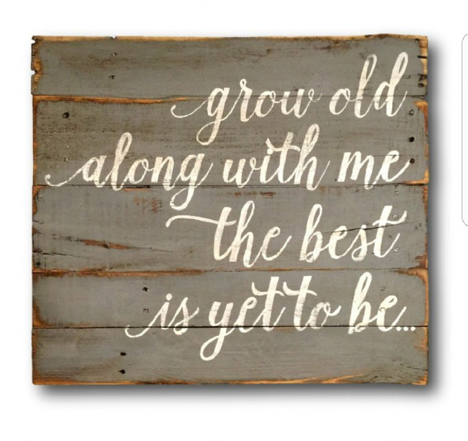 Script font (grow old along with me) - Font Identification