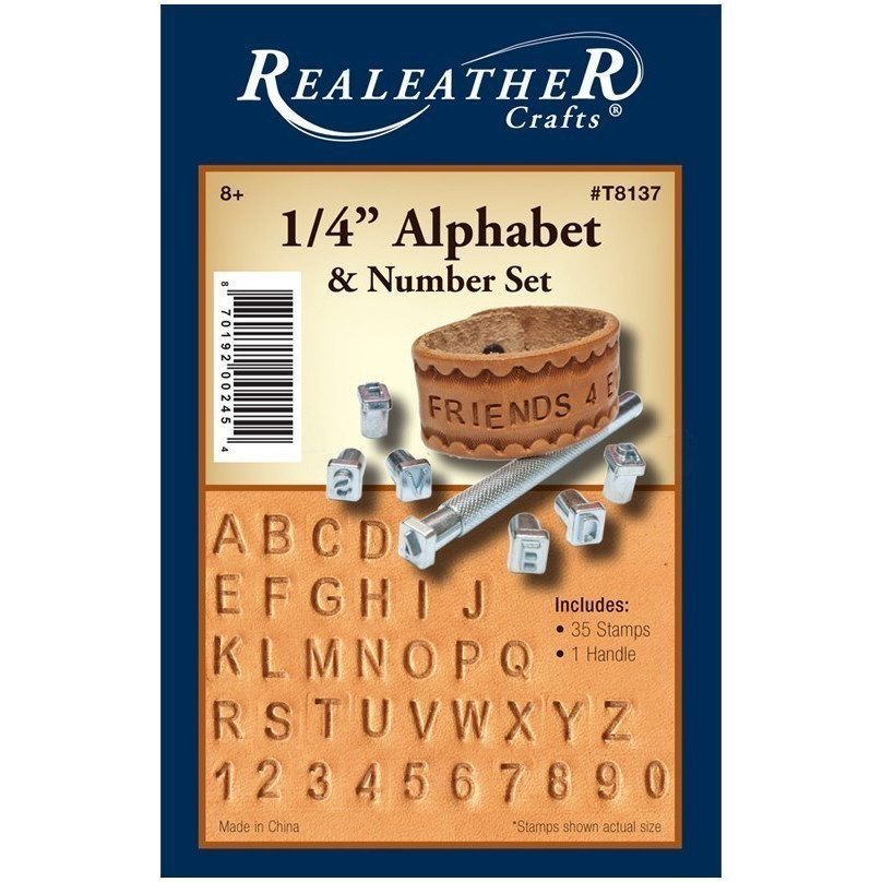 Looking for a close match to leather stamp set - Font