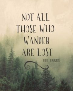 What Font Was Used In This Image Not All Those Who Wander Are Lost