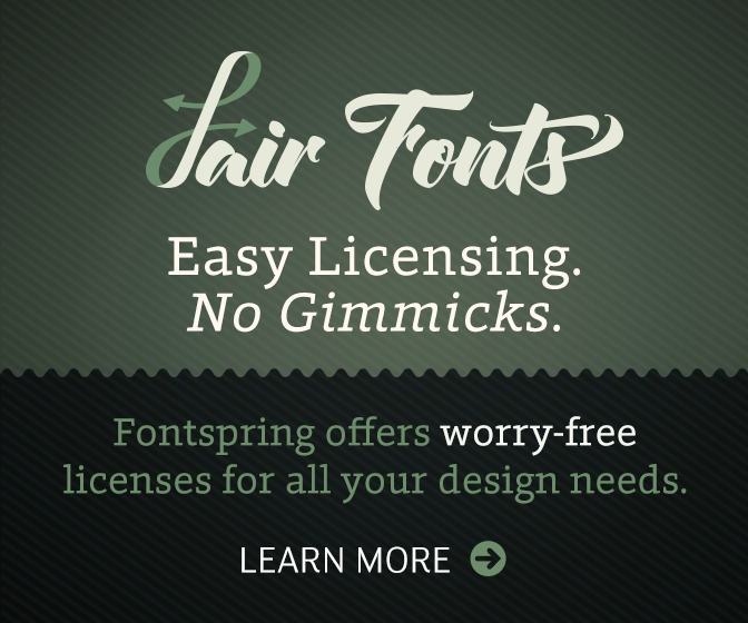 Fair Fonts from Fontspring.