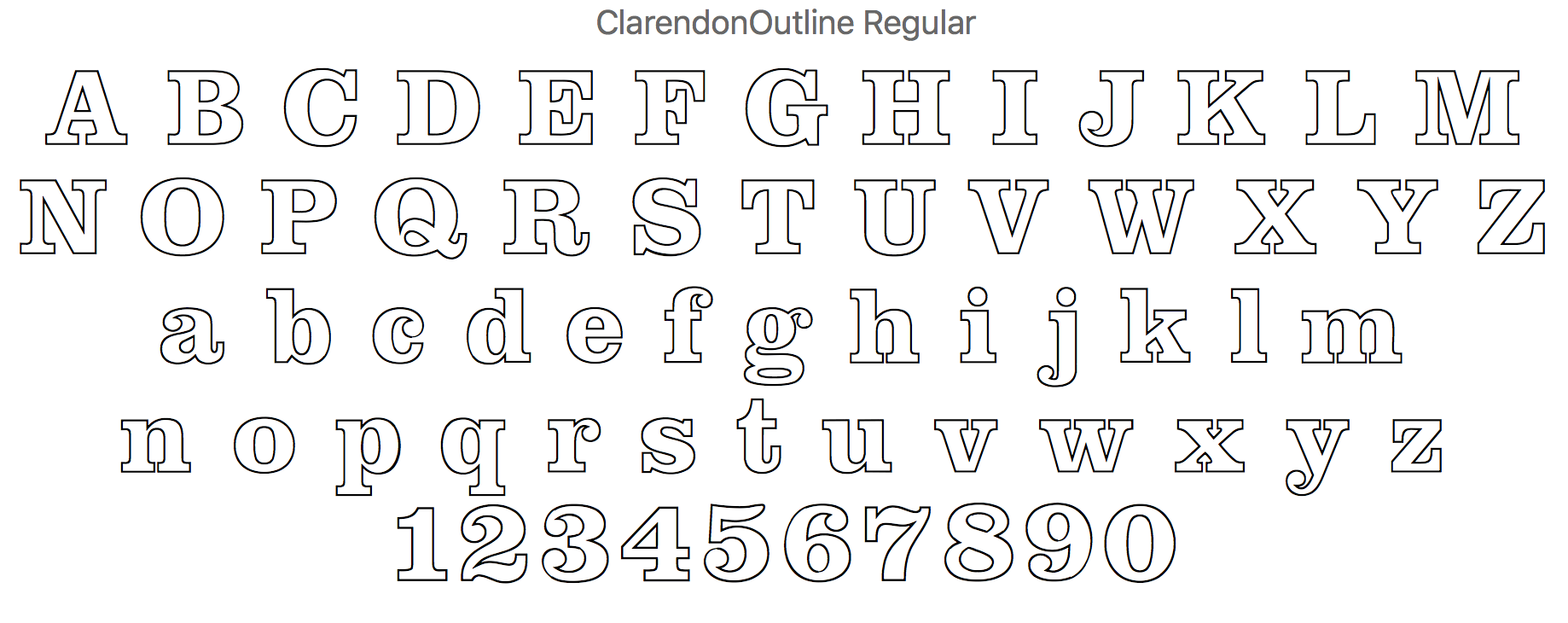 where to obtain Clarendon outlined font versions - Talk - Typography