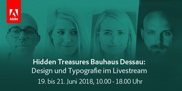 Adobe Live im Juni: Hidden Treasures Bauhaus Dessau – Design und Typografie im Livestream