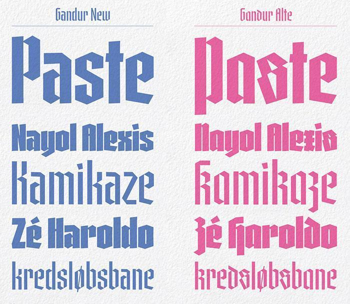 Contemporary Blackletter Fonts (2019) 🗄 - Typography/Font