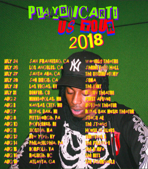 looking for font of playboi carti tour poster font identification