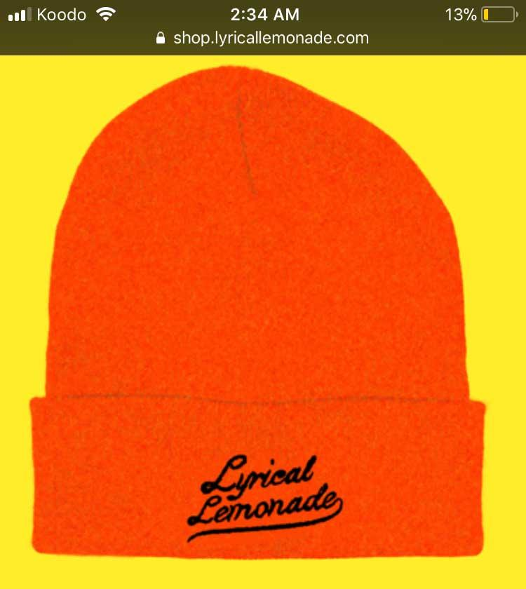 Looking for this Lyrical Lemonade beanie font - Font