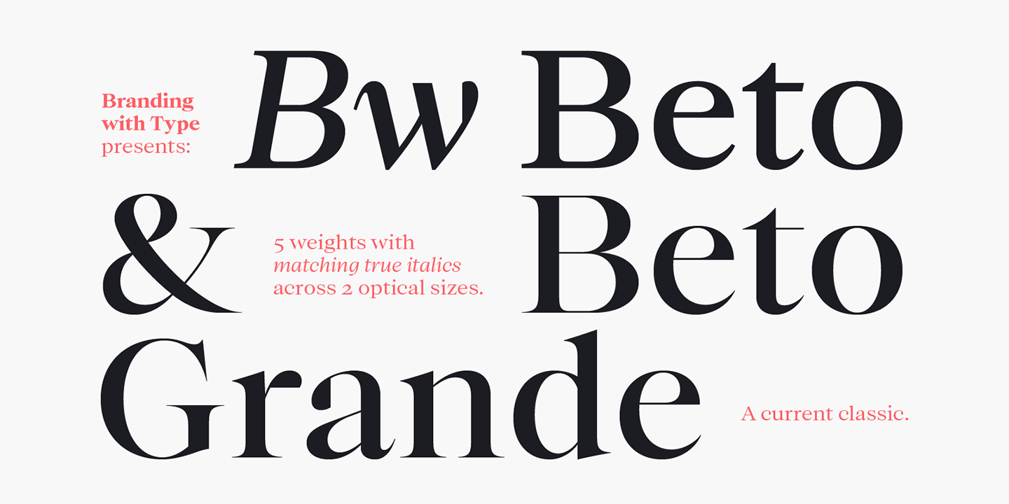 Bw Beto by Branding with Type