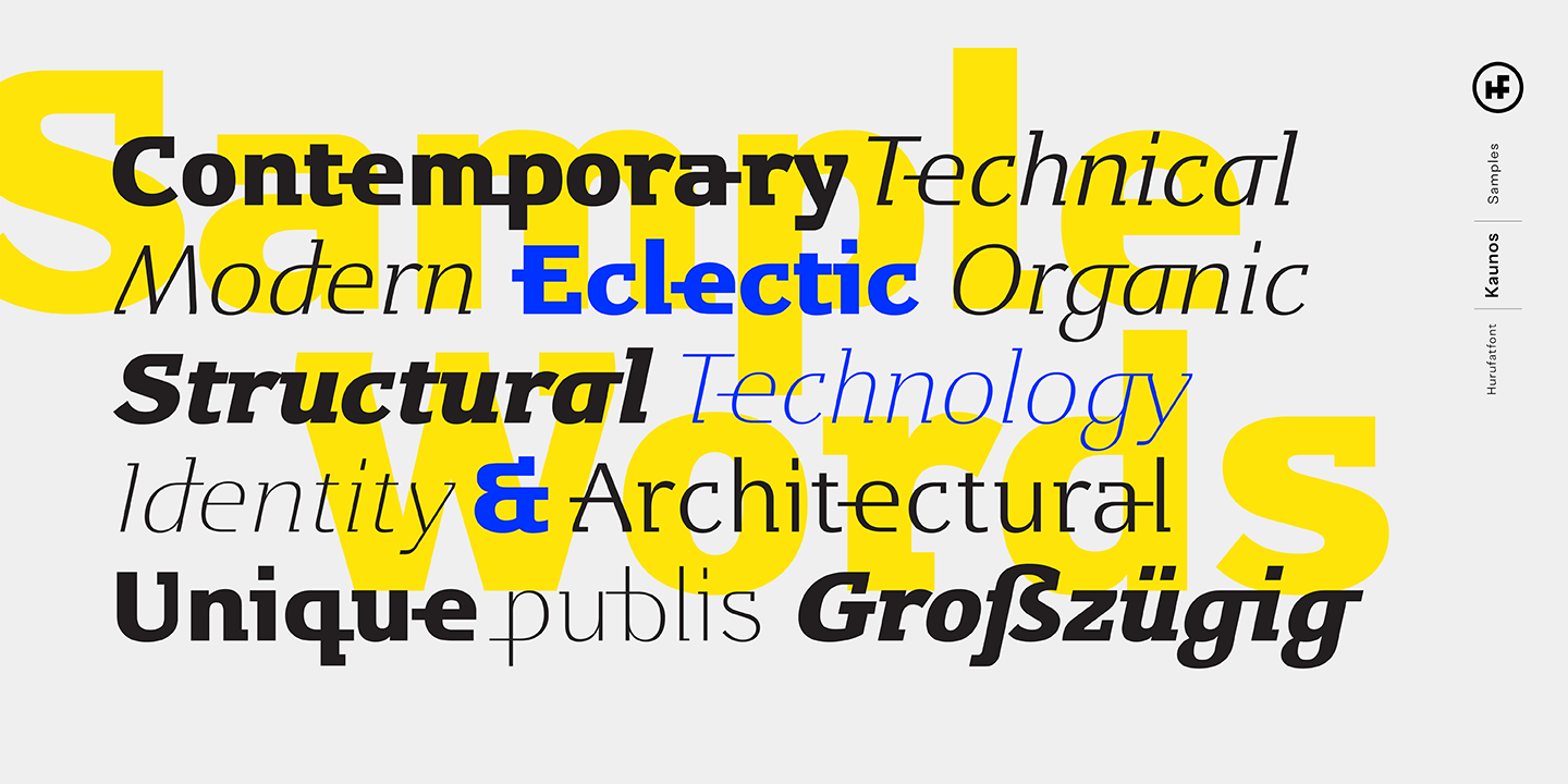 Kaunos by Hurufatfont Type Foundry