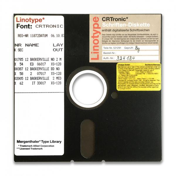 Linotype CRTronic floppy disc