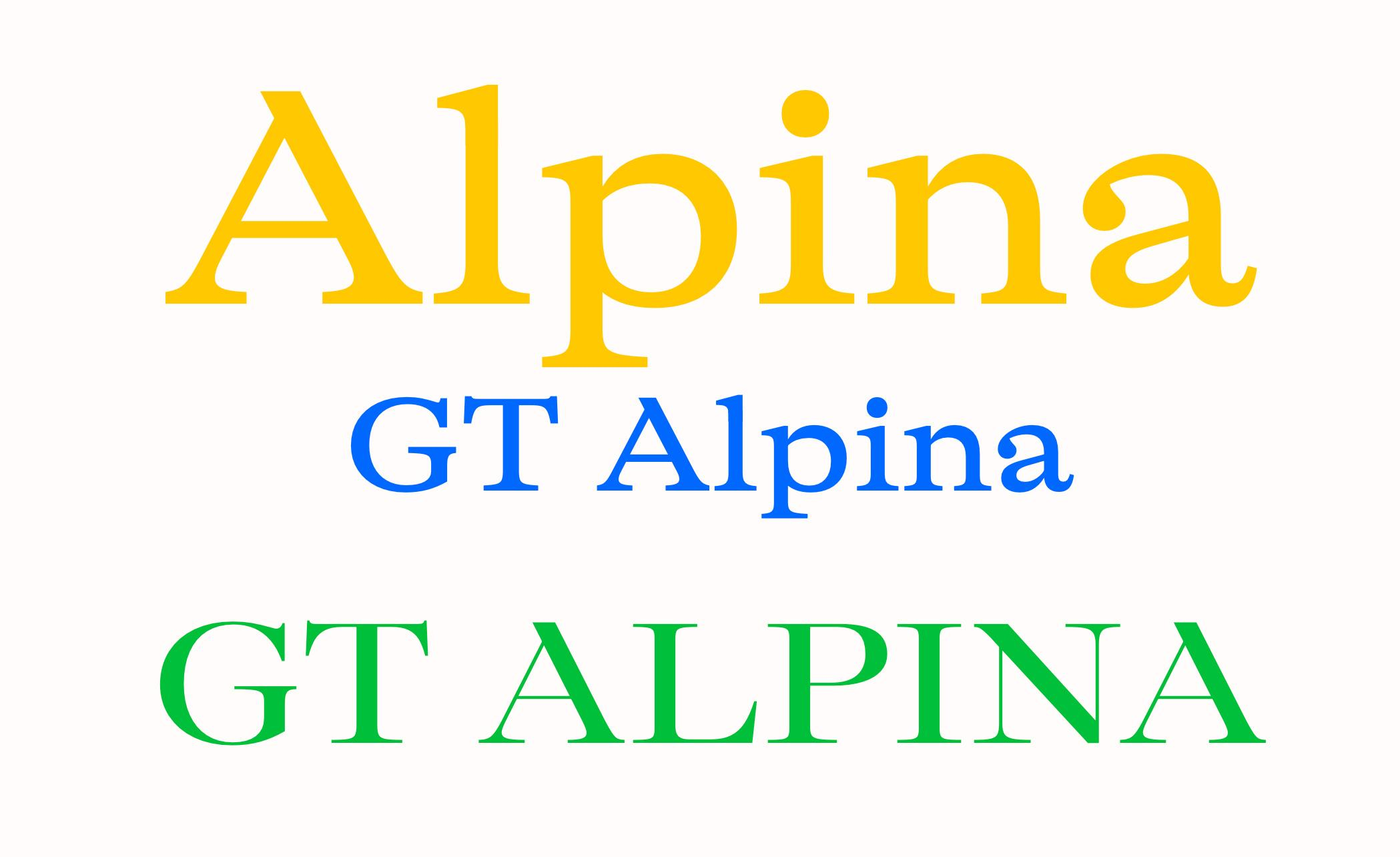 GT Alpina by Grilli Type