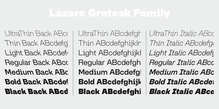 Lazare Grotesk by Nootype