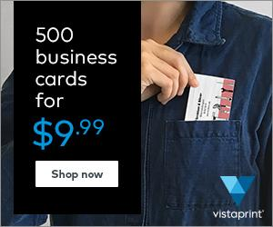 500 Business cards for just $9.99 …