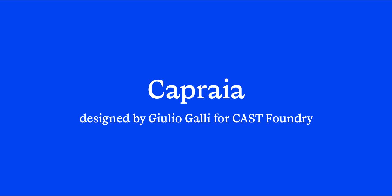 Capraia by CAST Foundry