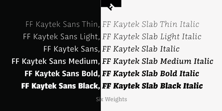 FF Kaytek by FontFont