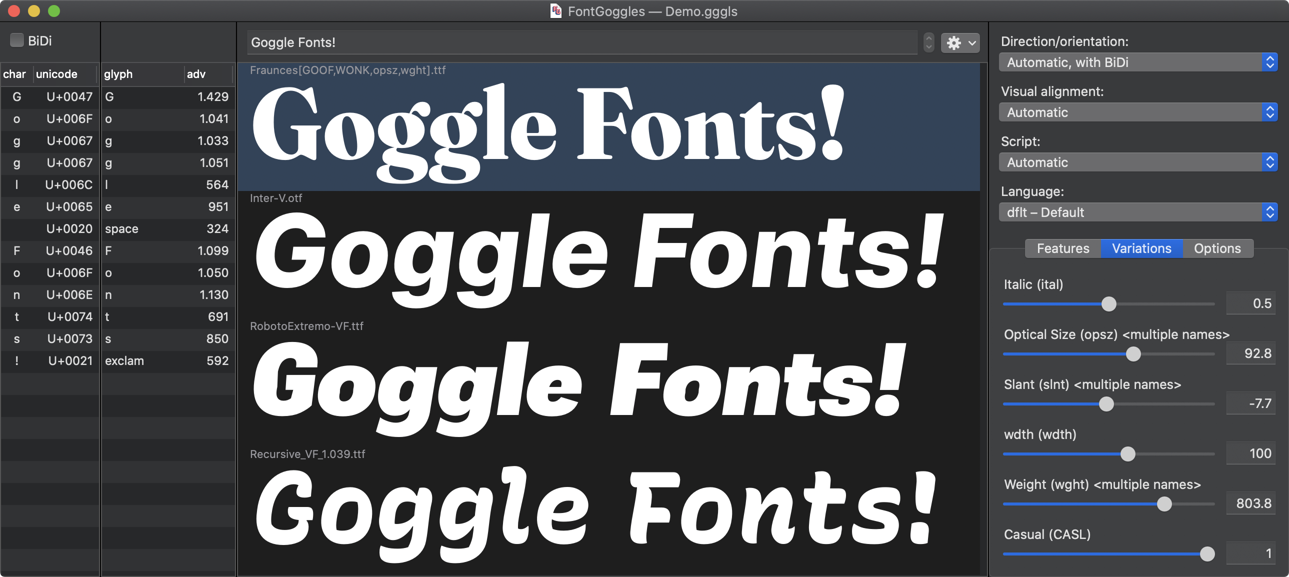 FontGoggles: A font viewer for Mac OS - Typography Weekly #100 -  Typography.Guru