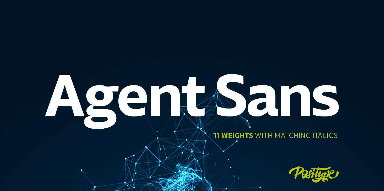 Agent Sans by Positype