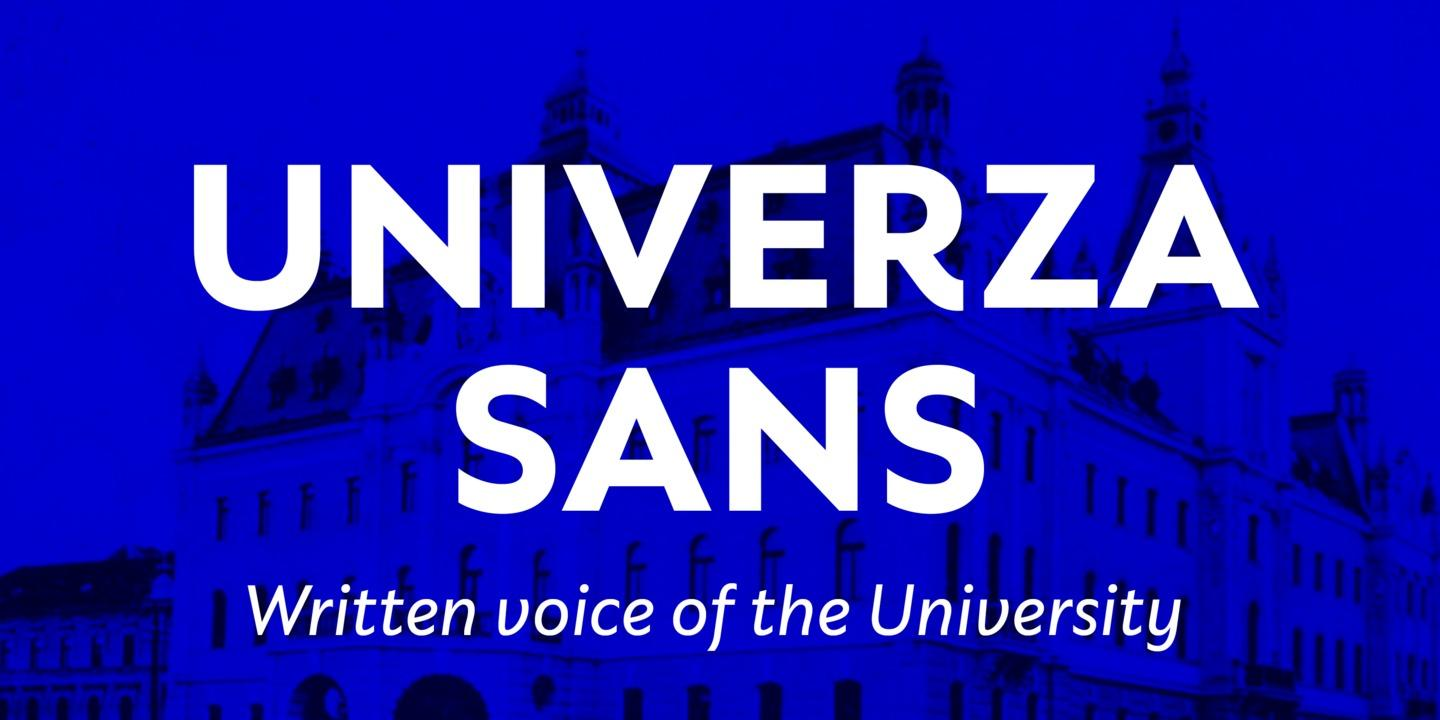 Univerza Sans by Type Salon