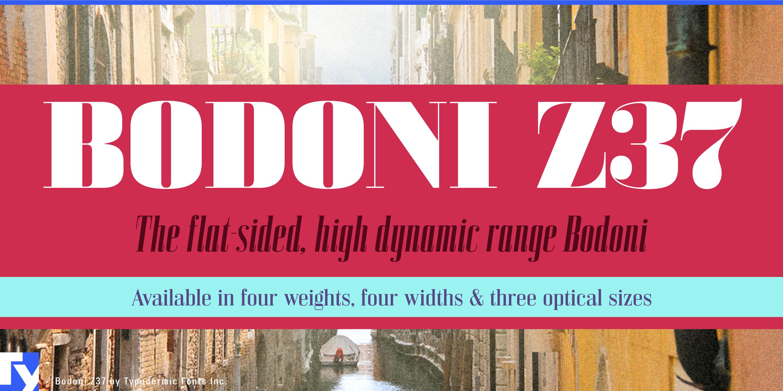 Bodoni Z37 by Typodermic