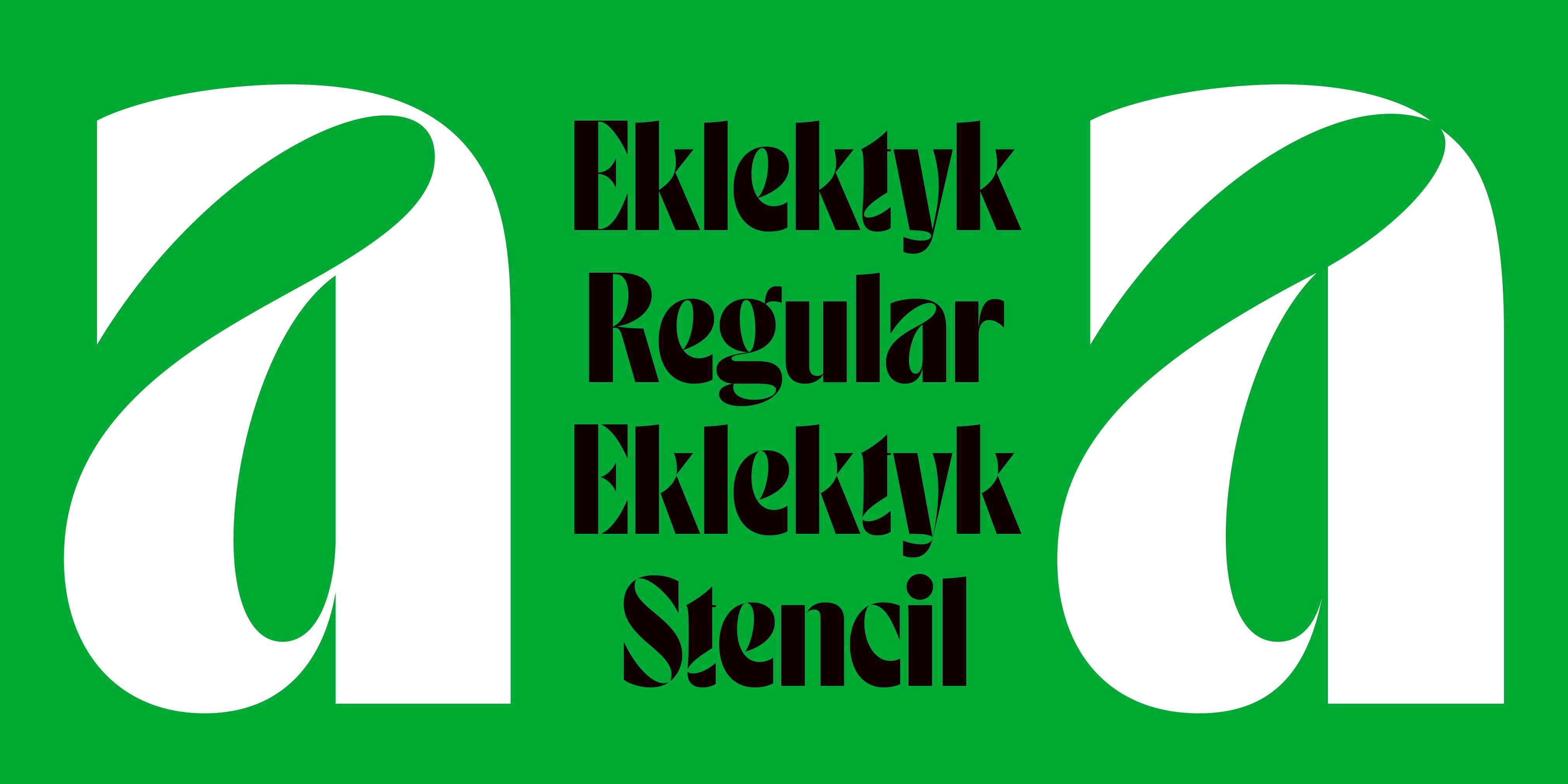 Eklektyk by Laïc: Type Foundry