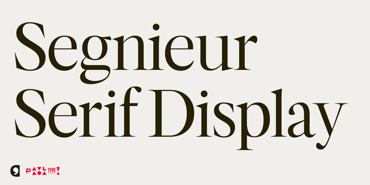 Segnieur Serif Display by Paavola Type Studio