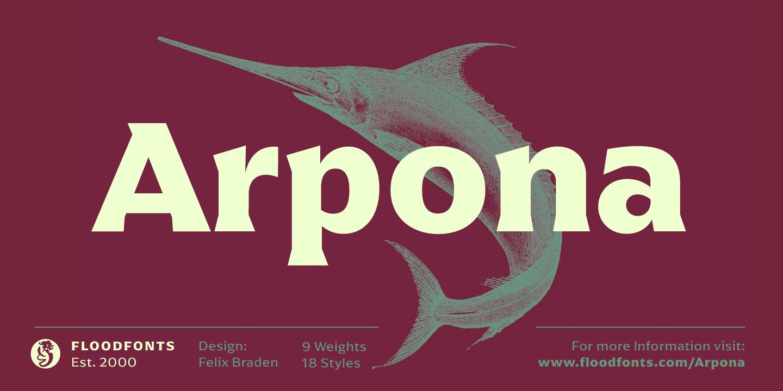 Arpona by Floodfonts