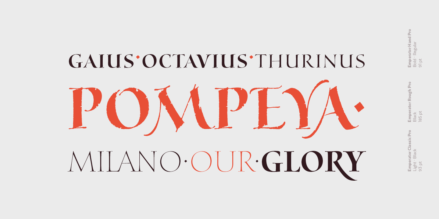 Emperator by Latinotype