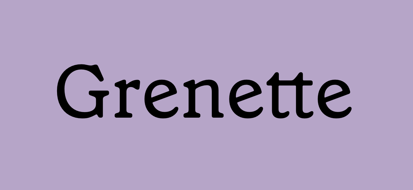 Grenette by Colophon Foundry