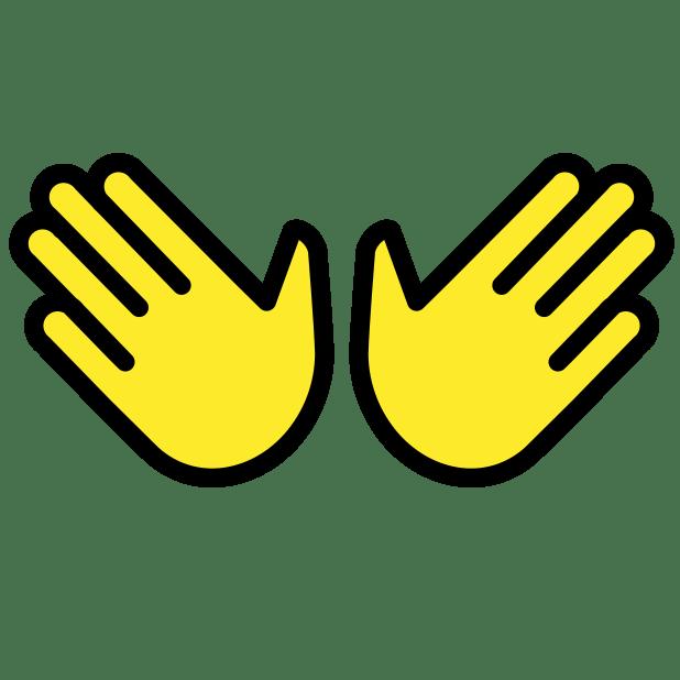 open hands sign - Emoji Meanings – Typography.Guru