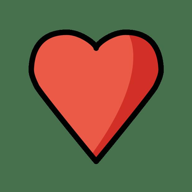 ♥ black heart suit - Emoji Meanings – Typography.Guru